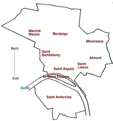 Prix m2 Melun par quartier : centre, val de seine, rive de Seine, Montaigu